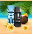 kahuna hawaiian beach composition vector image vector image