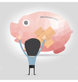 Piggy bank with plaster vector image