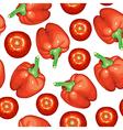 Tomato pepper pattern vector image