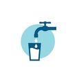 Water tap symbol vector image