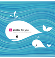 white whale paper materials design vector image vector image