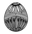 Sketch style floral Easter egg vector image