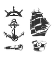 nautical elements for vintage labels vector image