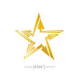 Abstract Golden star with arrows design element on vector image