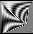 abstract twisted black and white optical vector image