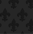 Black textured plastic solid Fleur-de-lis vector image