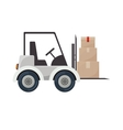 forklift truck with sealed packages vector image