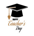 happy teacher s day vector image