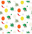 hot spices seamless pattern vector image