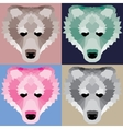 Low poly bears set vector image
