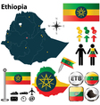 Map of Ethiopia vector image