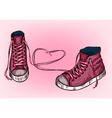 Pink Sneakers Design vector image