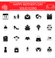 set of mothers day icons vector image