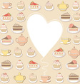 sweets frame vector image