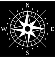 White Compass Symbol vector image