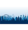 Cityscape background vector image