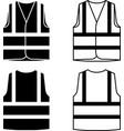 reflective safety vest black white vector image