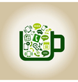 Communication a cup vector image