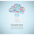 Template design Phone idea with clicking cloud vector image vector image