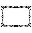 art nouveau black ornamental decorative frame vector image vector image