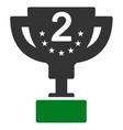 Second prize icon from Competition  Success vector image