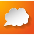 White paper speech bubble vector image vector image
