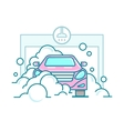 Car wash linear design vector image