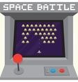 Old school pixel art style ufo arcade machine game vector image vector image