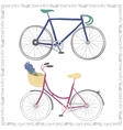 Set of two hand drawn bicycles vector image