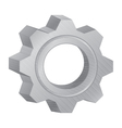 Gear design for technology machinery on white vector image