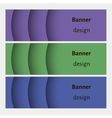 Abstract web banners set with curve elements and vector image