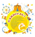 Amusement park design vector image