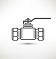 ball valve symbol vector image