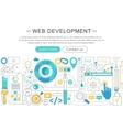 elegant thin flat line Web development vector image