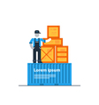 Packaging and shipping logistics transportation vector image