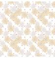 Retro chic flower pattern on fine polka dot vector image