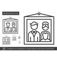 wedding picture line icon vector image