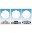 Set of university study banners with copy space vector image vector image