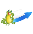 a frog and arrow vector image