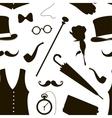 Pattern of elements for gentlemen vector image