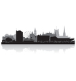 Sheffield city skyline silhouette vector image vector image