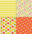 fruit and flowers vector image