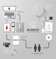 business infographic corporate identity set design vector image vector image