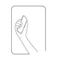border smartphone in hand 3 vector image