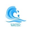 Blue ea wave abstract symbol vector image vector image