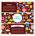 Hello Summer and Travel Concept Template Banners vector image