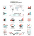 Infographics elements for websites brochures and vector image