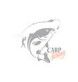 carp fishing vector image vector image