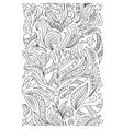 Seamless borders set in doodle style vector image