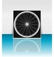 Bike wheel - flyer or cover design vector image